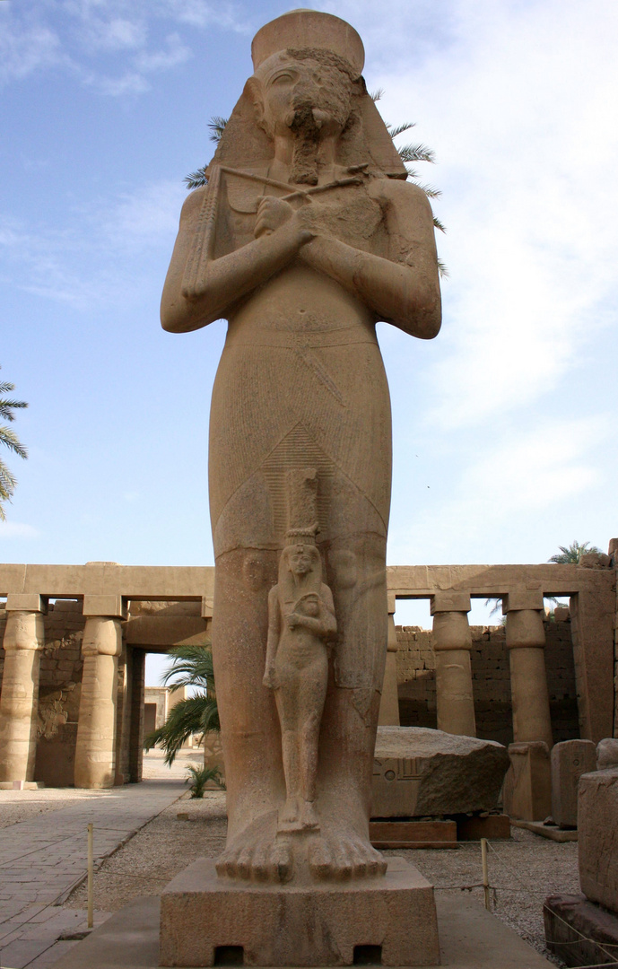 Ramses der II. im Amun Tempel in Karnak