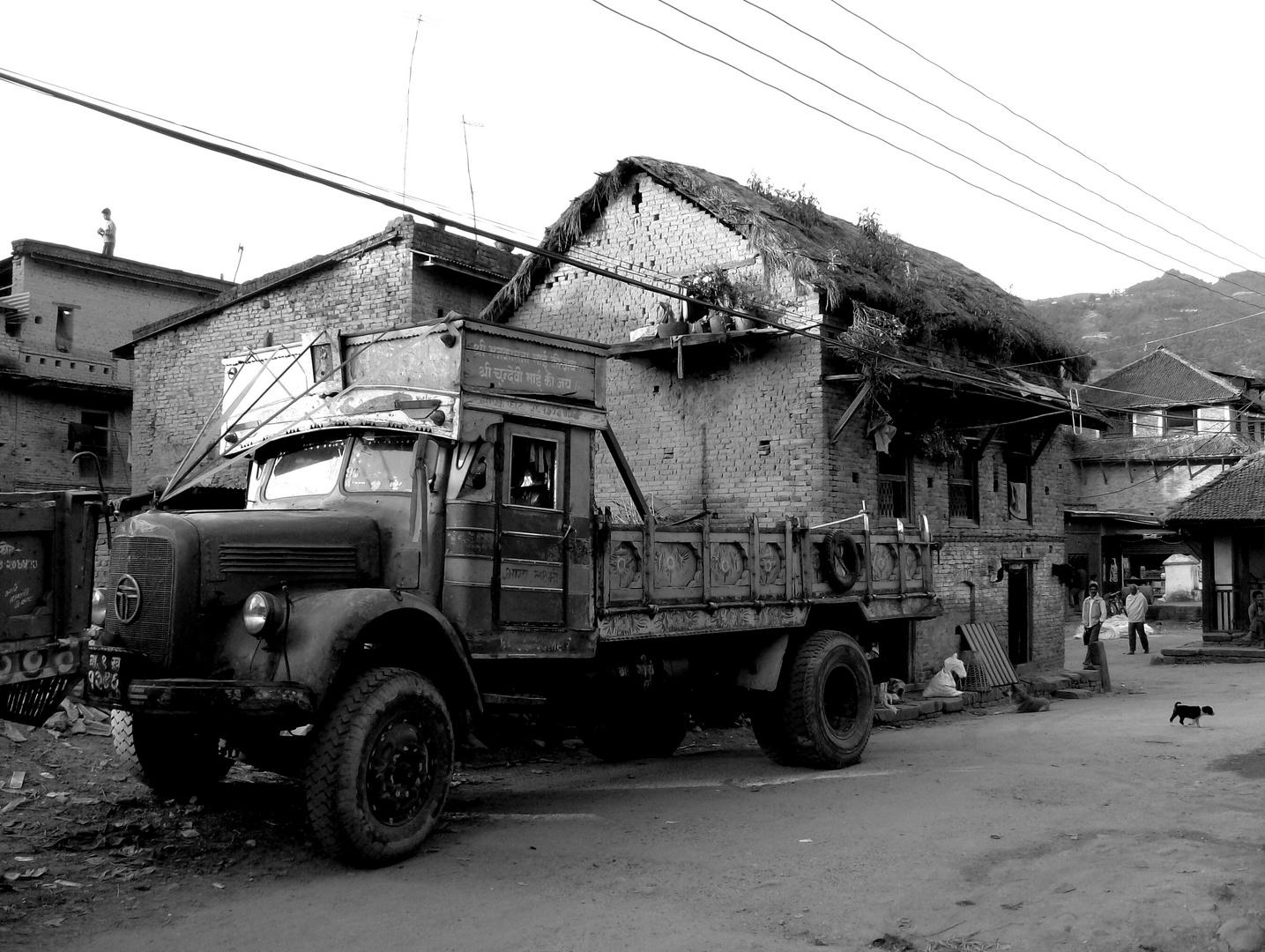 ramshackle old vehicle in Sankhu/ Kathmandu