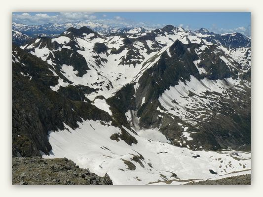 Rando Montvalier 2838m le 30 juin 2013.Etape N°11 : Du sommet vue sur ....