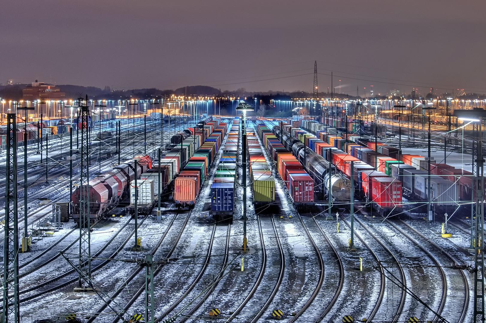 Rangierbahnhof im Winter