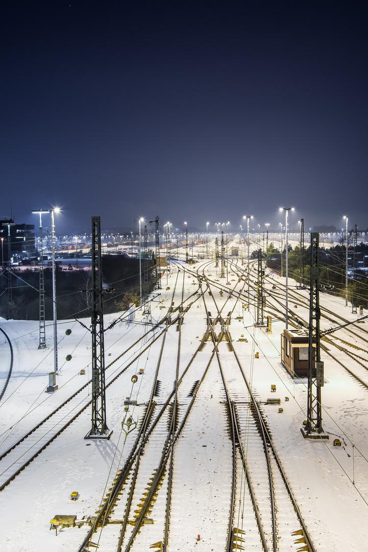 Rangierbahnhof Maschen Winter 1