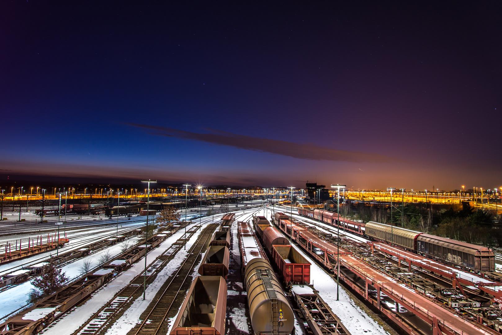 Rangierbahnhof Maschen Winter 2