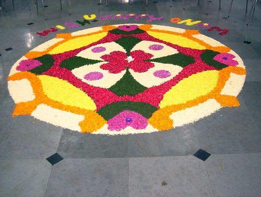 Rangoli with flower
