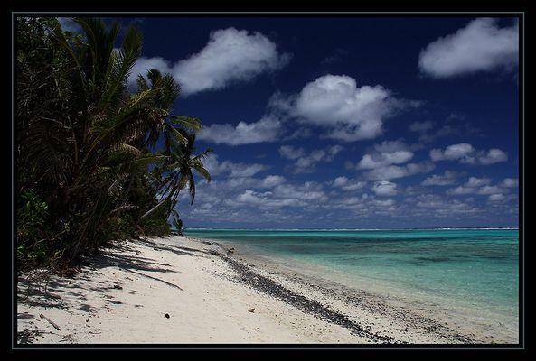 Rarotonga - Strand bei Titikaveka