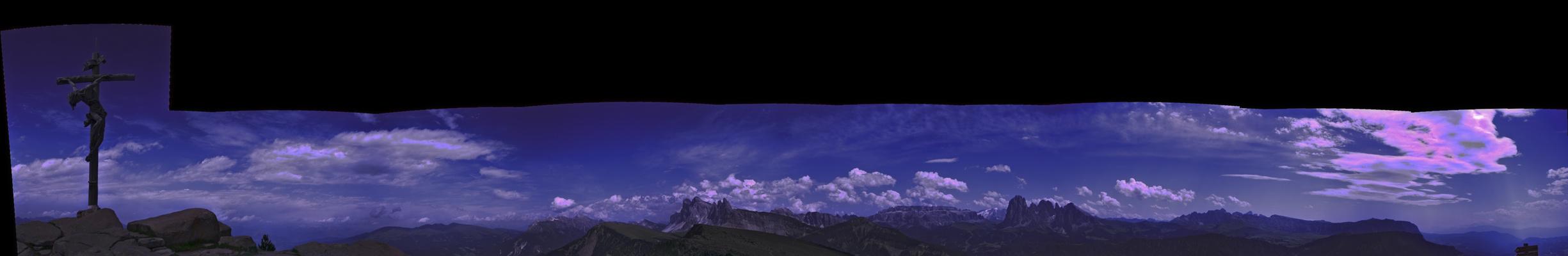 Raschötz Panorama in den Dolomiten