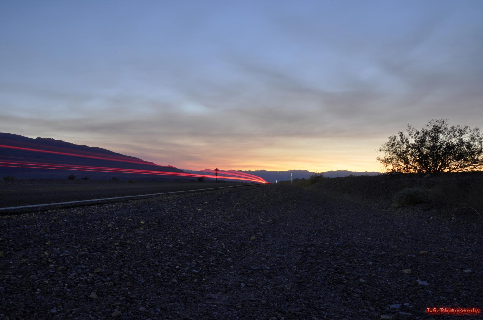 Raser im Death Valley