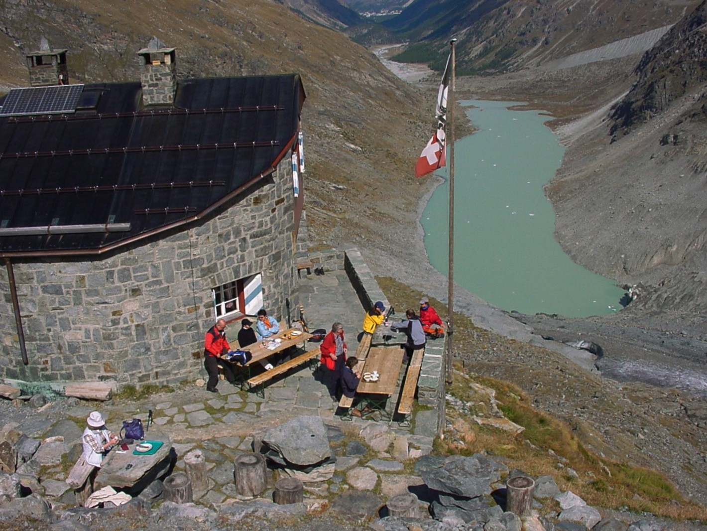 Rast an der Coaz Hütte (Oberengadin)