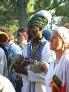 Rastafamilie mit Haile Selassie