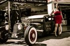 rat rod and pin-up girl