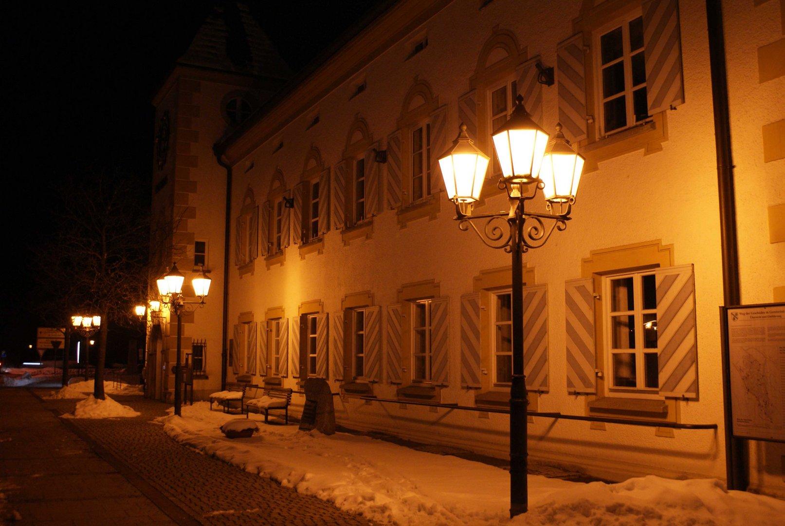 Rathaus in der Nacht