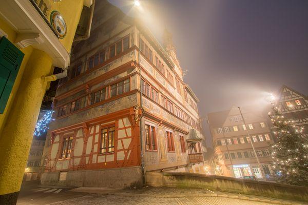Rathaus Tübingen im Nebel II