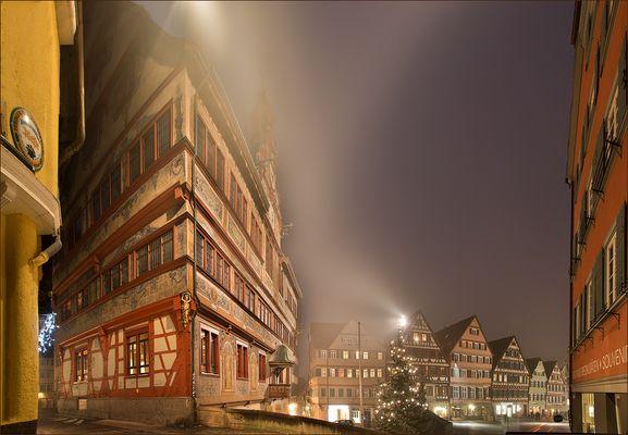Rathaus Tübingen im Nebel III