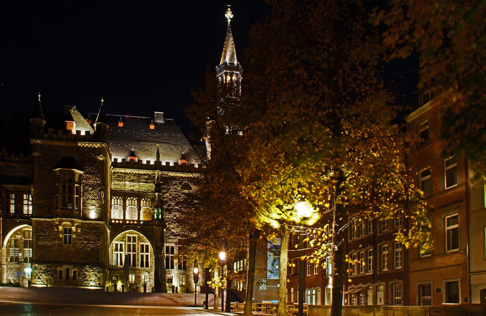 Rathaus von Aachen ansicht der Rückseite