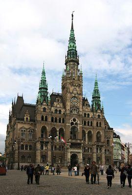 Rathaus zu Liberec (Reichenbach) in Tschechien