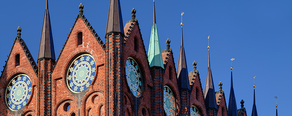 Rathausfassade Stralsund