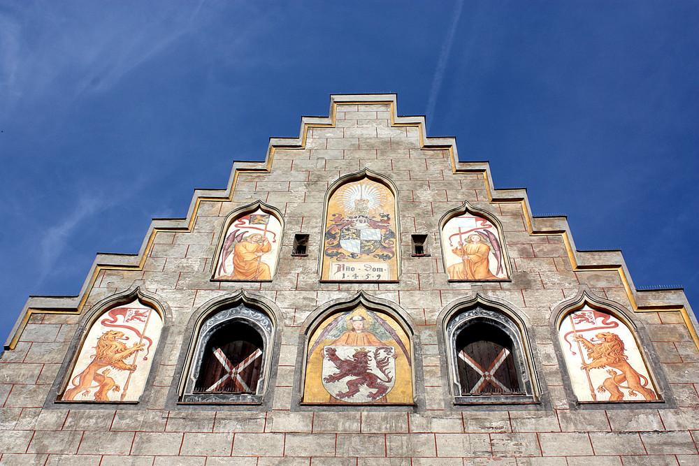 Rathausgiebel in Wasserburg