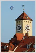 Rathausturm - Bürgermeister im Anflug?