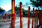 Rauch am Tempel