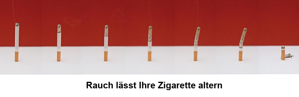 rauch lässt ihre zigarette altern