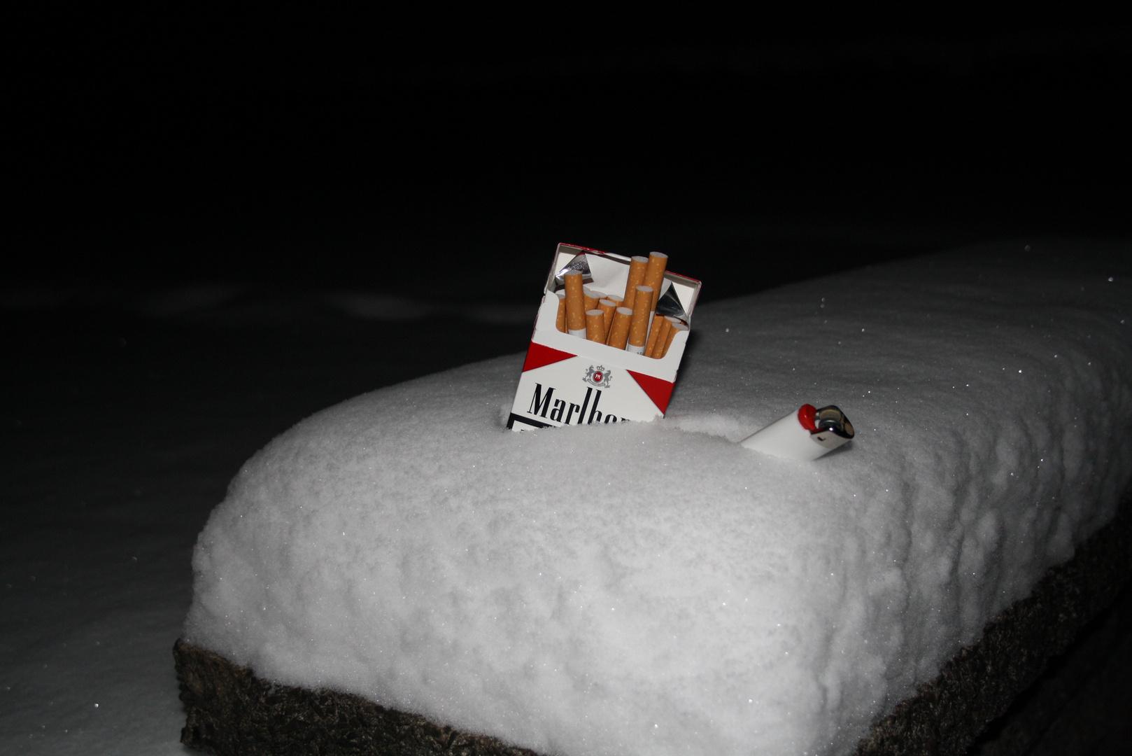 Rauchen im Schnee Siegen