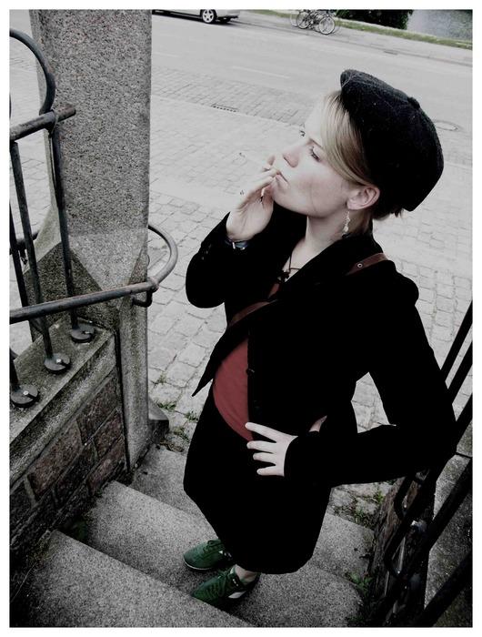 rauchende Kirstin