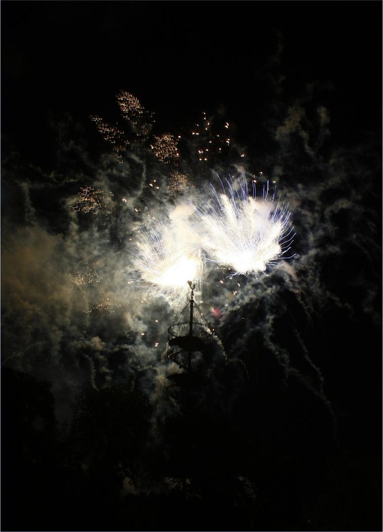 rauchendes Feuerwerk
