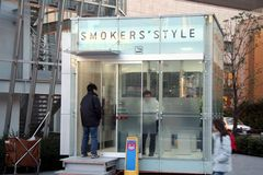 Raucherabteilung in Roppongi