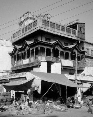 Rawalpindi Market - monochrome