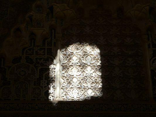 Rayon de soleil à l'Alhambra à Grenade - Voyage en Andalousie - Juin 2008