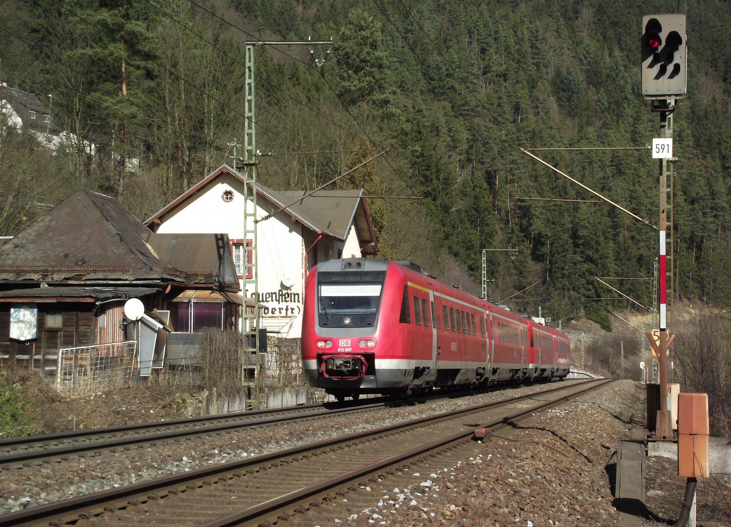 RE am ehemaligen Hp Lauenstein (Oberfranken)