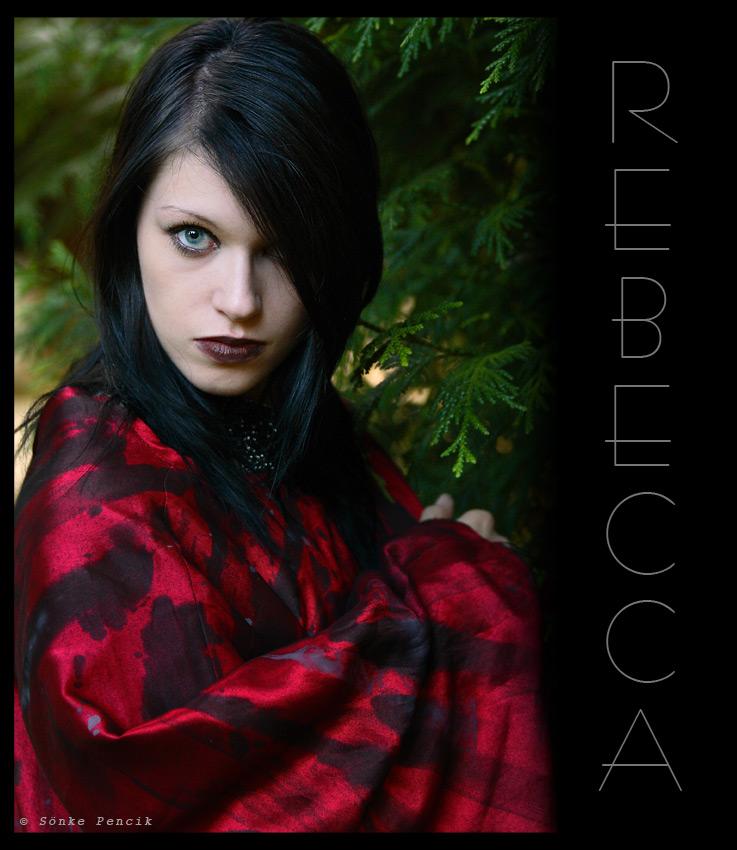 Rebecca - schwarz in rot -