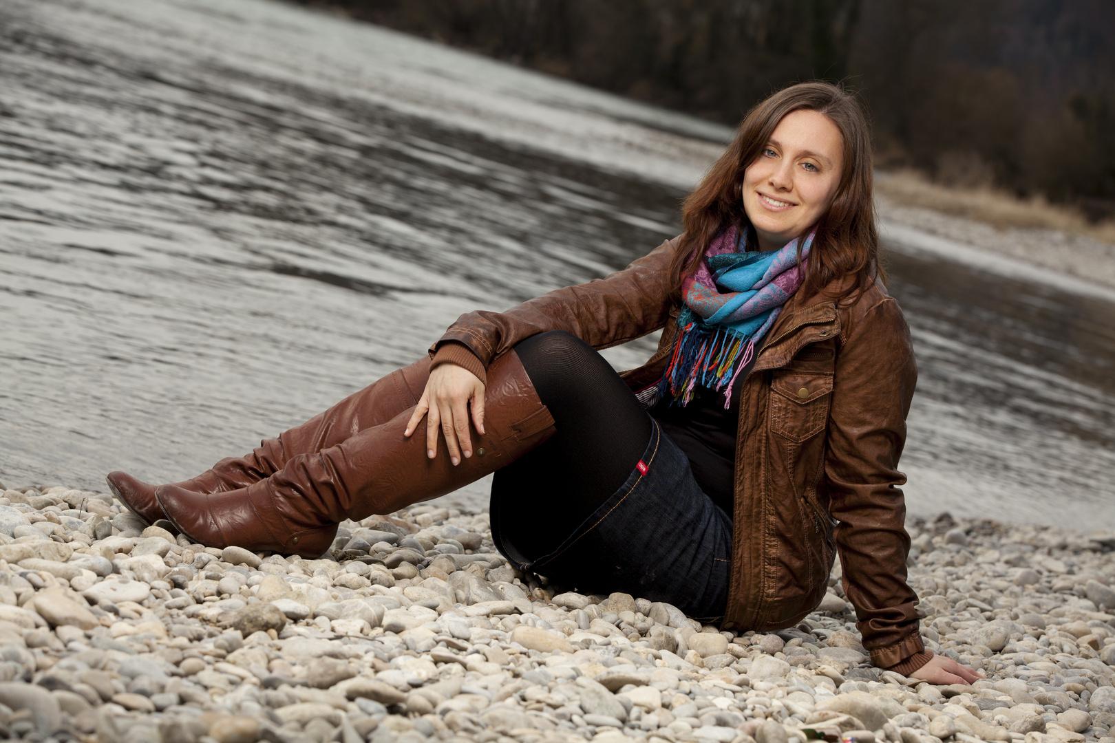 Rebi am Rhein . . .