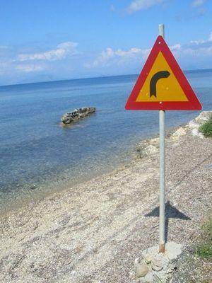 Rechts abbiegen (Korfu Ostküste)