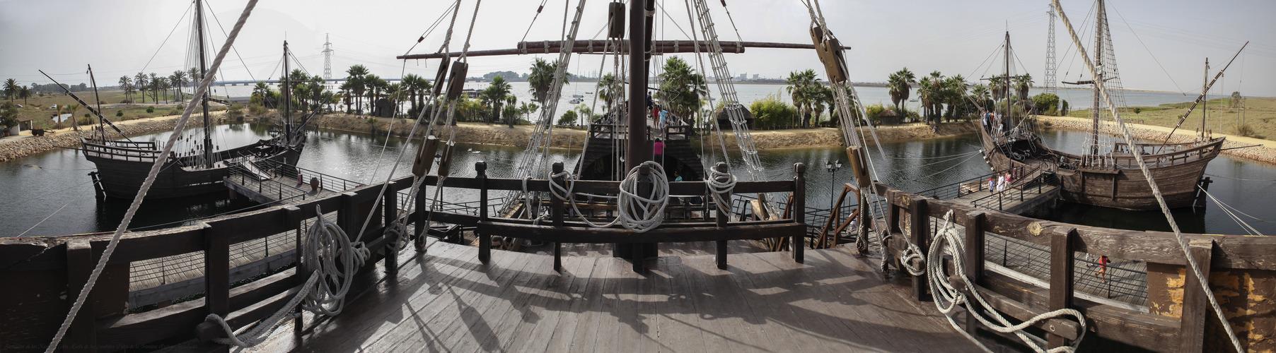 Recreación de las Naves de Colón Muelle de las Carabelas (Palos de la Frontera Huelva Andalucía)