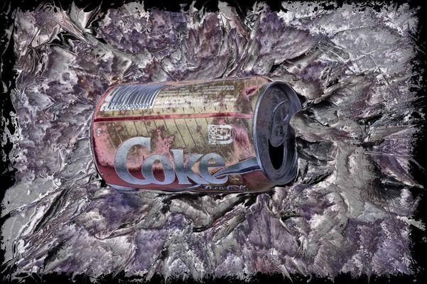 Recycling einer alten Cola-Dose