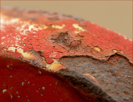 red and rusty