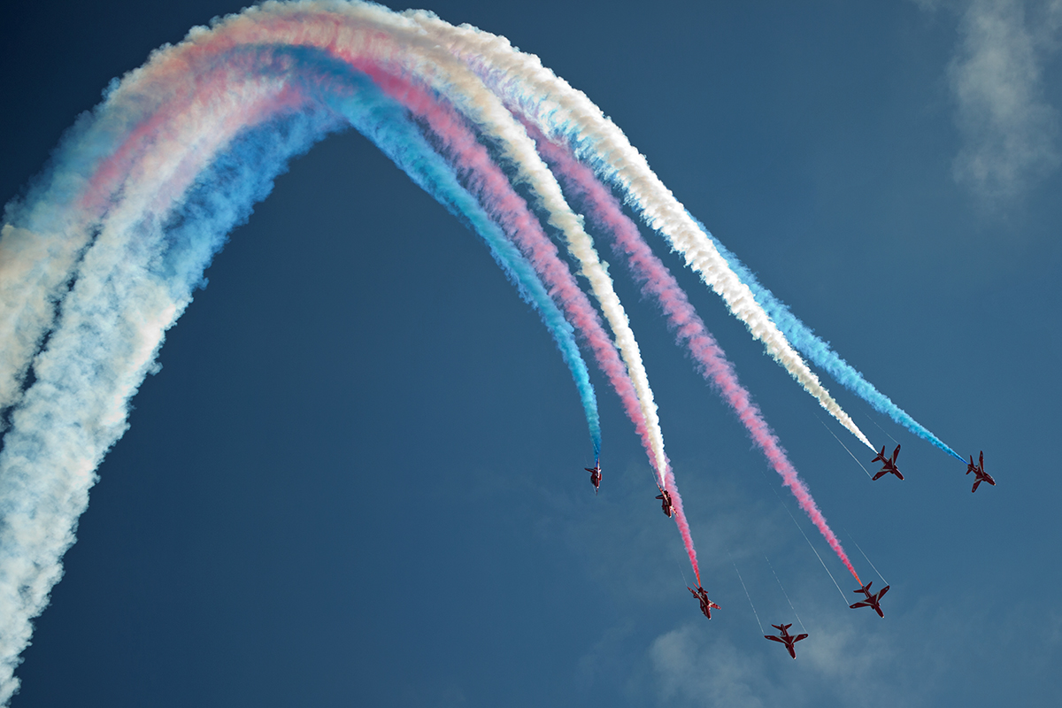 Red Arrows at Bournemouth Air Festival