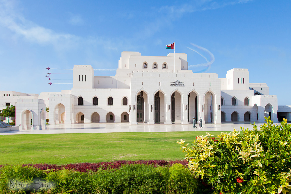 Red Arrows meets Royal Opera House Muscat