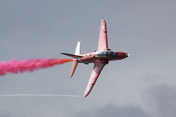 Red Arrows over Plymouth