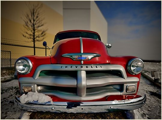 Red Chevy Pickup Face