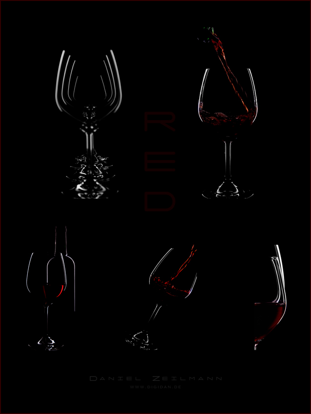 red... die Collage