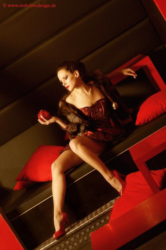 Red in black...