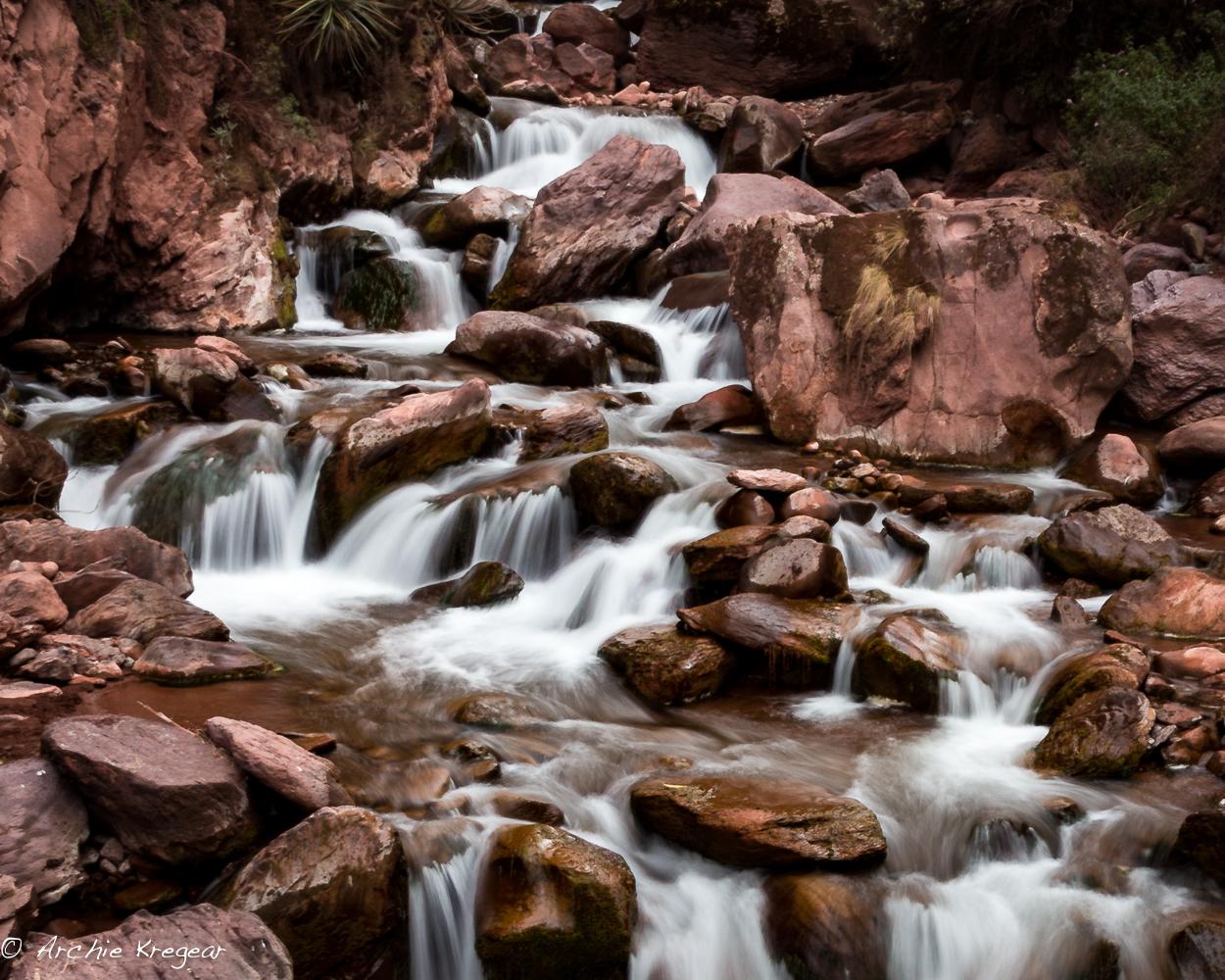 Red river rocks