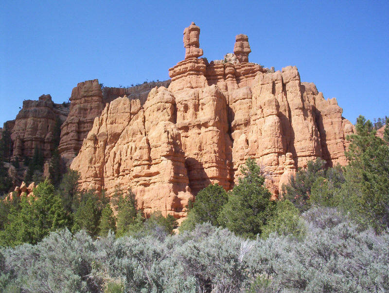Red Rock am Eingang Bryce