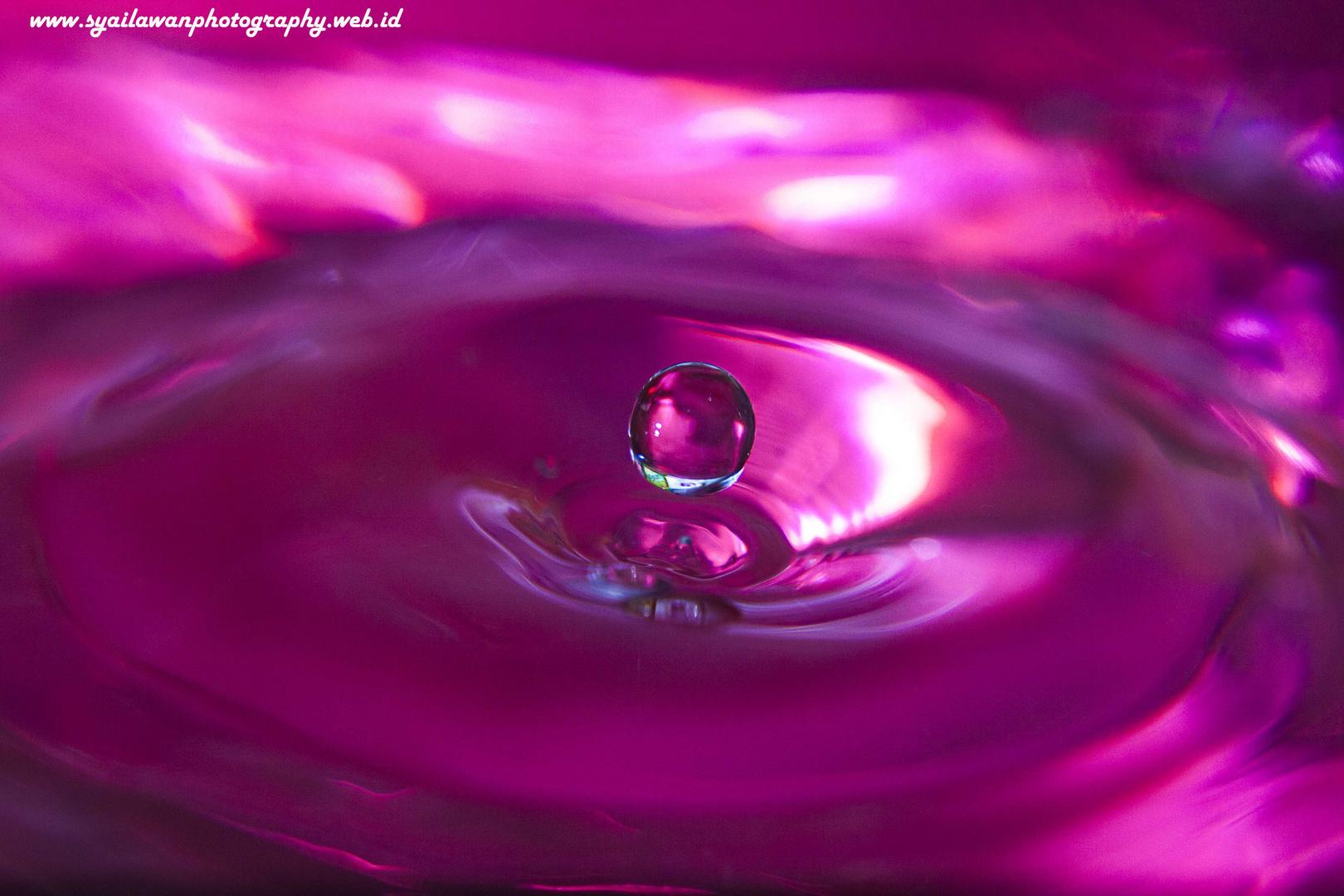 Reddish water drop
