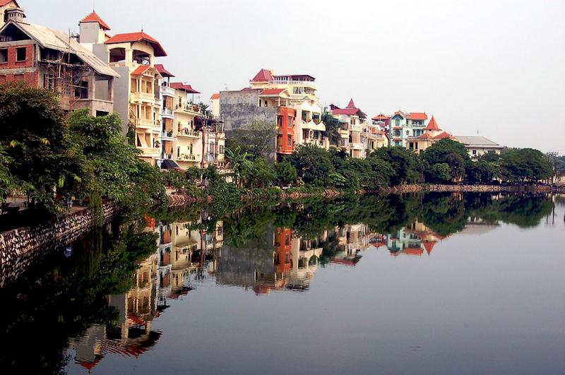 Reflection in Ho Tai, Hanoi, Vietnam