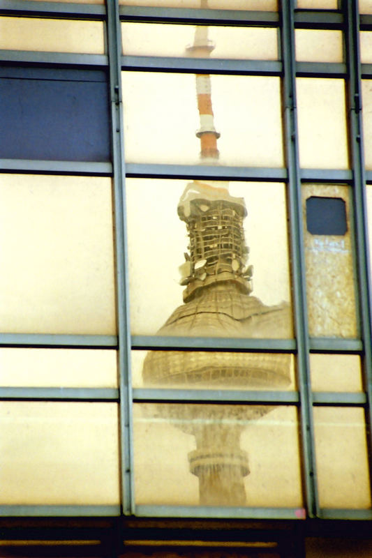 Reflection of the TV tower