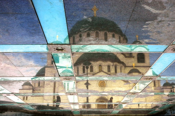 Reflection, St Sava temple, Belgrade