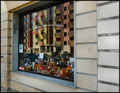 Reflections on window shop