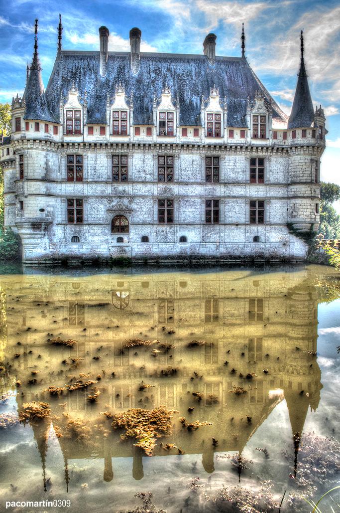 Reflejo Castillo de Azay Le Rideau